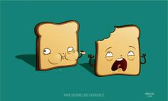 Cannibal Toast redesign - http://ovelhanegra.deviantart.com/art/Cannibal-Toast-76428364 #carina #illustration