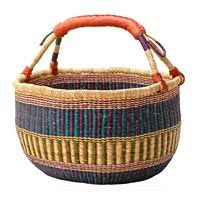 Fair Trade African Baskets and Gifts from Baskets of Africa : Zulu Ilala Palm Baskets, Swazi Sisal Baskets, Zulu Wire Baskets, Ghana Bolga Market Baskets