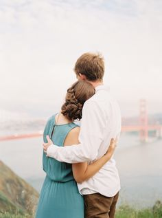 Romantic and casual styled couples session photographed by fine art wedding photographer Kayla Yestal at the Marin Headlands in San Francisco, California.