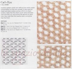 lo spazio di lilla: Album di punti traforati ai ferri / Knitting lace stitches collection, free patterns