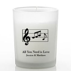 Musical Themed Frosted Glass Candle Favors - Musical Theme Wedding Favors - Wedding Favor Themes - Wedding Favors & Party Supplies - Favors and Flowers