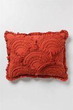 New Anthropologie Rivulets Collection Bedding Standard Shams NIP 2 Sham Coral