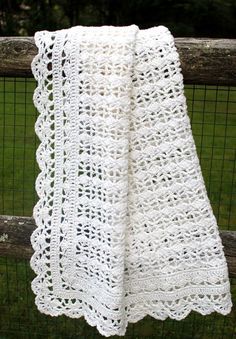 Afghans Heirloom Lace pattern from Best of Terry Kimbrough Baby Afghans--I have made several of these Baby Afghan Patterns, Baby Afghans, Crochet Blanket Patterns, Crochet Stitches, Crochet Blankets, Crochet Afghans, Crochet Baby Shawl, Mode Crochet, Baby Knitting