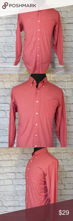 "Brooks Brothers Red Long Sleeve Shirt M49 EUC THE FIT Size - 16-3 CHEST - Armpit to Armpit - About - 26"" SHOULDERS - Seam to Seam - About -20"" SLEEVE - Center of Collar to End of Cuff - About - 33.5"" LENGTH - Base of Collar to Hem - About - 32.5""  THE DETAILS Long Sleeves  100% Cotton   PLEASE FOLLOW MY CLOSET FOR GREAT NEW DEALS EVERYDAY! THANK YOU FOR YOUR BUSINESS! Brooks Brothers Shirts Dress Shirts"