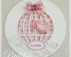 Enfeite Maternidade - Gaiola Passarinho