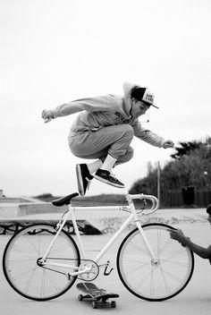 skate boy bike up urban style