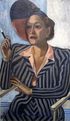 Portrait of Mildred Myers Oldden by Alice Neel, 1937 Oil on canvas 36 3/4 in. x 21 3/4 in. ,  San Diego Museum of Art