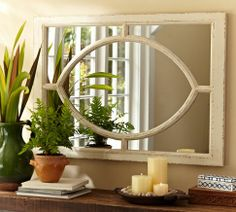 White Observatory Mirror | Pottery Barn