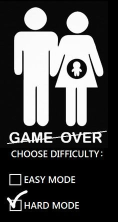 pregnancy announcement for geeks / gamers Game is not over, just entering Hard Mode