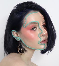 aesthetic makeup full face brittnymakeup UNRAVELED a photo of this look dedicated to the lovely unraveledartistry swipe to see the full face! alsssoOOO have yall seen my new YT vid Im uploading another one either tomorrow Makeup Goals, Makeup Inspo, Makeup Inspiration, Creative Inspiration, Skin Makeup, Beauty Makeup, Face Makeup Art, Makeup Style, Photographie Portrait Inspiration
