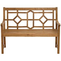 Pacific Grove Natural Geometric Outdoor Bench - #22V67 | Lamps Plus Bathroom Bench, California Room, Iron Bench, Outdoor Dining, Outdoor Decor, Porch Swings, Acacia Wood, Natural Wood, Teak