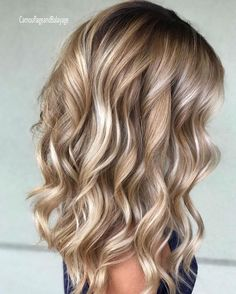Hair waves hairstyles look wonderful and can work for any hair type. Check out o… Hair waves hairstyles look wonderful and can work for any hair type. Check out our best ideas how to make your hair wavy and natural… Continue Reading → Bronde Balayage, Bayalage, Baylage Blonde, Blonde Ombre, Ombre Hair, Brown Blonde Hair, Blonde Curls, Highlights For Blonde Hair, Blonde Honey