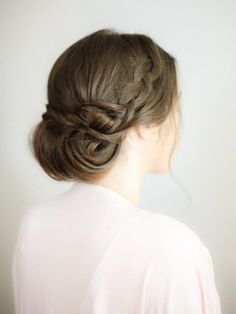 low updo with braids
