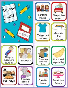 Writing FREEBIE- Practice brainstorming main idea and details, organizing ideas, or making lists with task cards and recording sheets Kindergarten Lessons, Kindergarten Writing, Teaching Writing, Kindergarten Worksheets, Teaching Ideas, Writing Lists, Work On Writing, Writing Lesson Plans, Writing Lessons