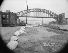 Shore Road South, Astoria. View of Hell Gate Bridge. June 3, 1948.