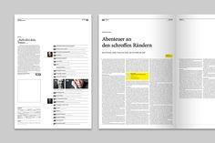 """Corporate Design and Editorial Design für """"VOLLTEXT - Zeitung für Literatur"""", a german literature magazine."""