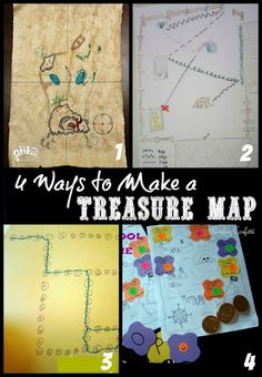 mapping ideas w/ a quirky pirate theme - can be adapted for age and to any place (school map, classroom, etc).