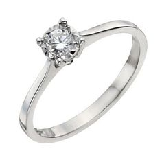 9ct White Gold 1/6 Carat Diamond Solitaire Ring- H. Samuel the Jeweller