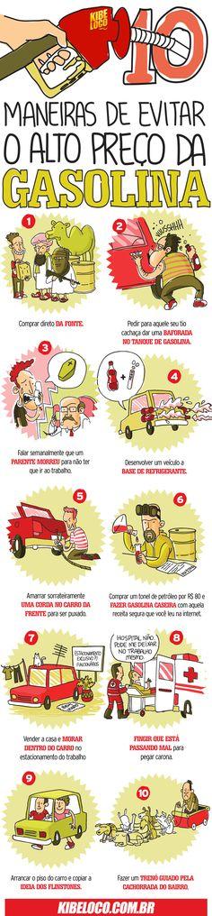 10 maneiras de evitar o alto preço da gasolina.