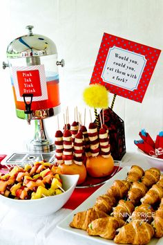 Dr.-Suess-Baby-Shower- perfect for the baby shower for Crystal!