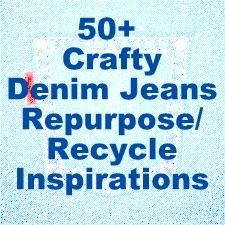 Here is another collection of my favorite things. 50+ ideas to do with those Old denim jeans.You know the ones that don't fit anymore… We all love the comfort of denim, so give them a re-purpose.