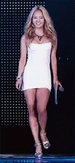Hyoyeon SNSD Girls' Generation Sexy Strut Mnet 20's Choice Awards 2013 Sexy White Dress GIF