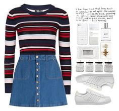 """""""174. Nostalgia"""" by mshalloweenhead ❤ liked on Polyvore featuring Topshop, HUGO, adidas, Stila, philosophy, BIA Cordon Bleu, French Connection, Tommy Mitchell, NARS Cosmetics and skirt"""