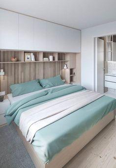 Modern Home Decor Bedroom Ikea Bedroom, Bedroom Wardrobe, Home Decor Bedroom, Bedroom Furniture, Bedroom Built Ins, Small Bedroom Storage, Small Master Bedroom, Home Room Design, House Design