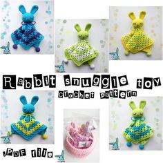 Crochet amigurumi baby security blanket .PDF file par BlueRabbitLV