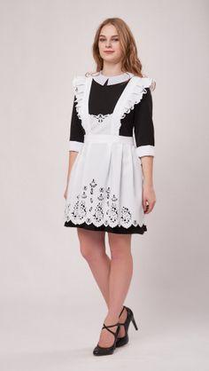 3d0420ec8c83e Интернет магазин школьные фартуки купить, Фартук школьный белый из ...