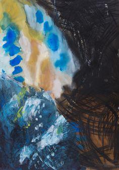 Agnieszka Kopczyńska-Kardaś, cykl Przestrzeń, 100 x 70 cm, Tempera, pastele olejne, 2014