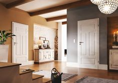 beltéri ajtók - Yahoo Image Search Results Royal Doors, White Interior Doors, Living Room Paint, Window Design, Cottage Homes, My Dream Home, Living Room Designs, Tall Cabinet Storage, Interior Decorating