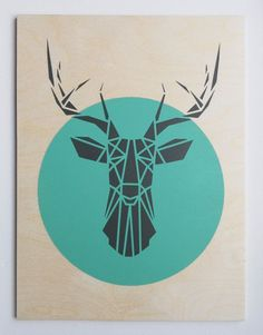Geometric Deer Head images