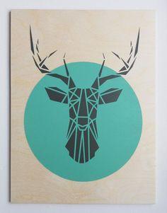 Geometric Deer Head images
