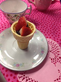 Tea party fruit cup treats blog.jolasjoyfulevents.com  To book a party in the metro Atlanta area www.jolasjoyfulevents.com