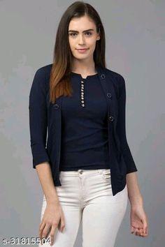 Travel Clothes Women, Plain Tops, Elegant Woman, Western Wear, Everyday Look, Tunic Tops, Fashion, Moda, Fashion Styles