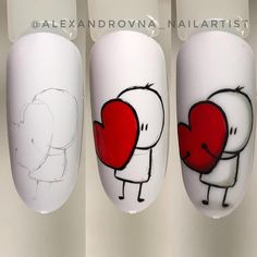 How to succeed in your manicure? - My Nails Nail Manicure, Diy Nails, Nail Polish, Nail Drawing, Nail Art Techniques, Valentine Nail Art, Funky Nails, Flower Nail Art, Cute Nail Art
