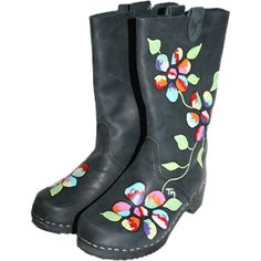 Black Oil Boot Becky Clog Boots, Black Oil, Crocs, Rubber Rain Boots, Sweden, Fabric, Top, Fashion, Woodwind Instrument