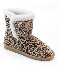 Another great find on #zulily! Leopard Rhinestone Boot by Bolaro #zulilyfinds