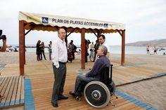 La playa de El Palmeral en Almería accesible para todos via @asaltodemata