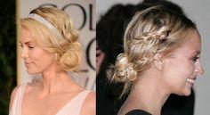 low bun #hair #braids