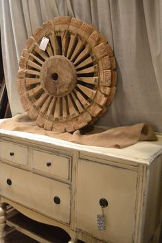 Spectacular wooden wheel! available Sept 19-21, 2014 at www.chartreuseandco.com/tagsale, #vintagewheel, #carnivalwheel,