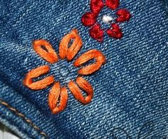 Upcycled Embroidered Jeans