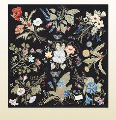 Gucci - flora knight print silk foulard