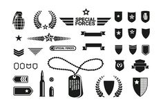 Military theme icons set by VectorPixelStar on @creativemarket