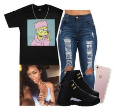 """"""""""" by xtiairax ❤ liked on Polyvore featuring Fremada and NIKE"""