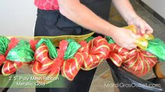 How to Make a Garland with Deco Mesh