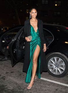 Chanel Iman in Temperley London