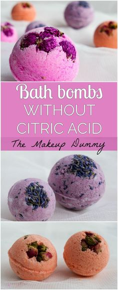 How To make Bath Bombs WITHOUT citric acid. This easy recipe is made with cream of tartar. DIY Bath Bombs with cream of tartar tutorial by The Makeup Dummy #diybathbombs #diygifts