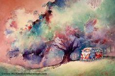 Michael David Sorensen's Art Blog - Watercolor Painting. Seagulls. Banter.: August 2008